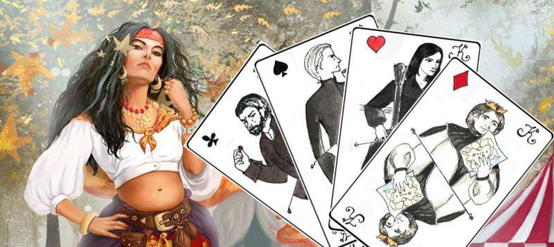 Онлайн гадание на четырех королей цыганки Азы.