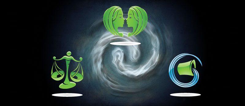 Стихия воздуха — знаки зодиака (Близнецы, Весы, Водолей)