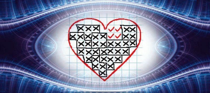 Гадание на бумаге в клетку на любовь — «Сердечное гадание».